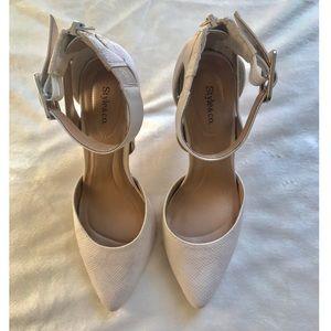 White Style & Co Snakeskin Heels